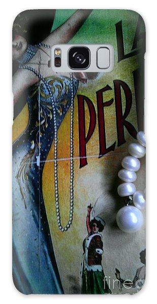 Roaring Twenties Elegance And Pearls Galaxy Case
