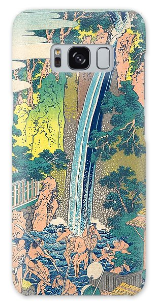 Oyama Galaxy Case - Roben Waterfall At Oyama In Sagami Province by Katsushika Hokusai