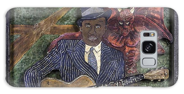 Robert Johnson At The Crossroads Galaxy Case by Eric Cunningham
