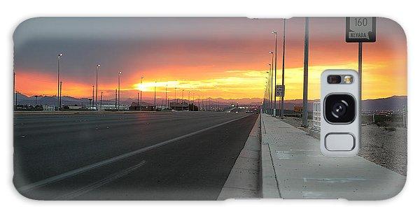 Robert Melvin - Fine Art Photography - Highway 160 At Dawn Galaxy Case