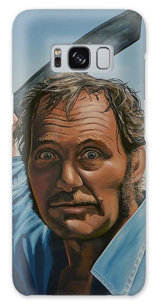 Robert Shaw In Jaws Galaxy Case by Paul Meijering