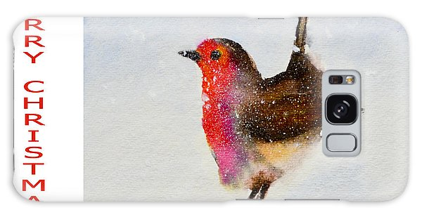 Robin Christmas Card Galaxy Case by Genevieve Brown