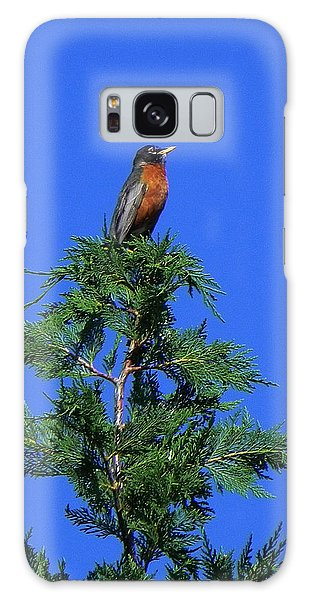 Robin Christmas Tree Topper Galaxy Case by Bill Swartwout