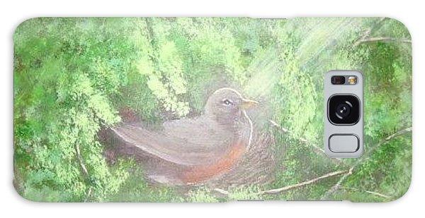 Robin On Her Nest Galaxy Case