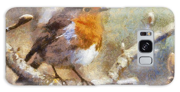Robin Redbreast Galaxy Case