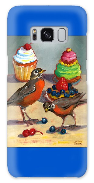Robins And Desserts Galaxy Case by Susan Thomas