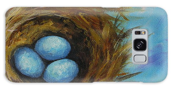 Robin's Three Eggs Viii Galaxy Case