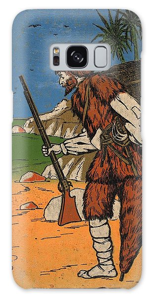 Shipwreck Galaxy Case - Robinson Crusoe, Illustration From The by English School