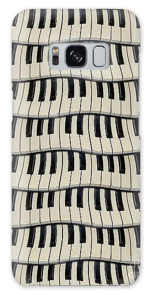 Rock And Roll Piano Keys Galaxy Case by Phil Perkins
