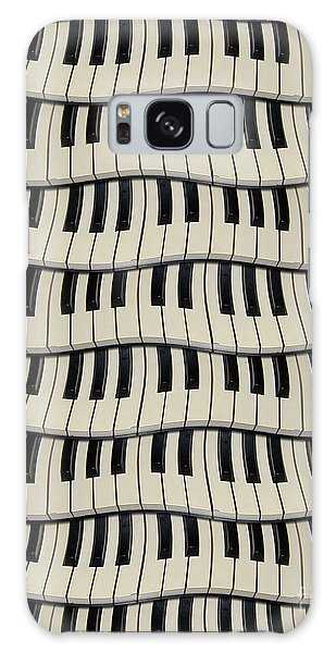 Rock And Roll Piano Keys Galaxy Case