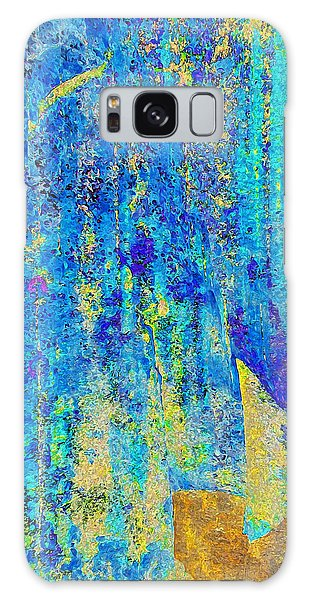 Rock Art Blue And Gold Galaxy Case