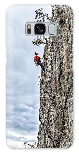 Rock Climber Galaxy Case by Carsten Reisinger