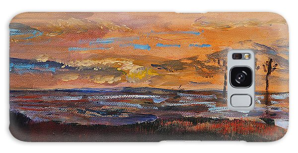 Rock Harbor Sunset Galaxy Case