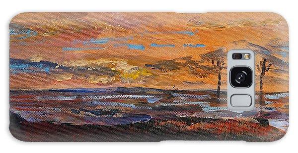 Rock Harbor Sunset Galaxy Case