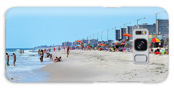 Rockaway Beach And Boardwalk Summer 2012 Galaxy Case by Maureen E Ritter