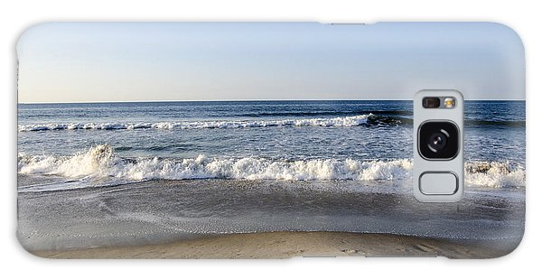 Rockaway Beach Morning Shoreline Galaxy Case by Maureen E Ritter