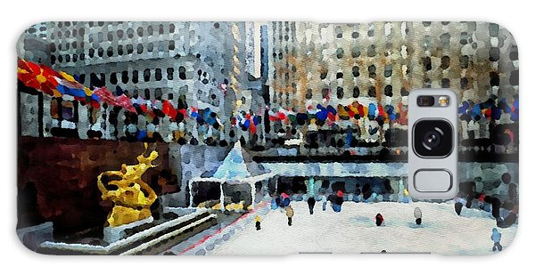 Rockefeller Center Ice Skaters Nyc Galaxy Case