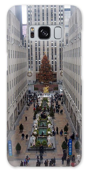Rockefeller Plaza At Christmas Galaxy Case