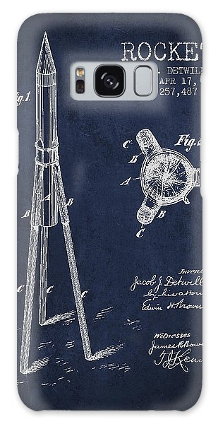 Spaceship Galaxy Case - Rocket Patent Drawing From 1883 by Aged Pixel