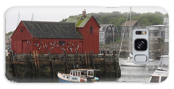 Rockport Inner Harbor With Lobster Fleet And Motif No.1 Galaxy Case