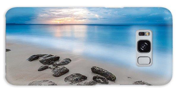 Rocks By The Sea Galaxy Case by Mihai Andritoiu
