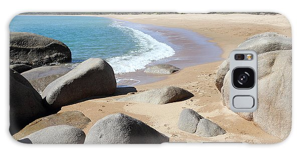 Rocks On The Beach Galaxy Case