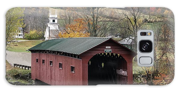 Rockwell Country - The Covered Bridge Of West Arlington Galaxy Case