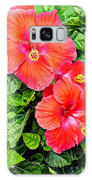 Rocky Hill Hibiscus Galaxy Case by Craig T Burgwardt
