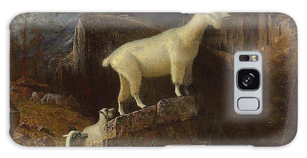 Rocky Mountain Goats Galaxy Case by Albert Bierstadt