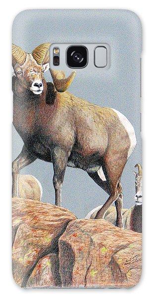 Rocky Mountain Ram Ewe And Lamb Galaxy Case
