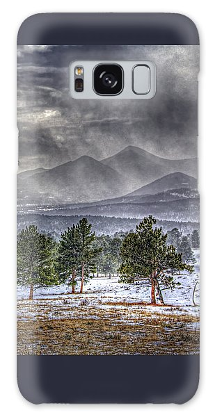 Rocky Mountain Snow Storm Estes Park Colorado Galaxy Case