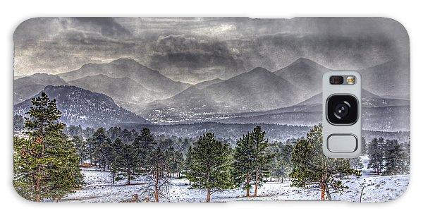 Rocky Mountain Snow Storm Estes Park Colorado Galaxy Case