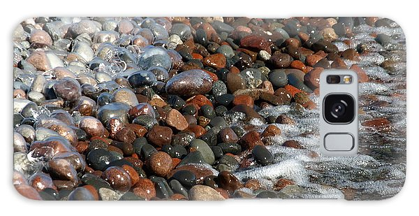 Rocky Shoreline Abstract Galaxy Case by James Peterson