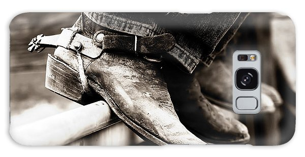 Rodeo Boots And Spurs In Black And White Galaxy Case