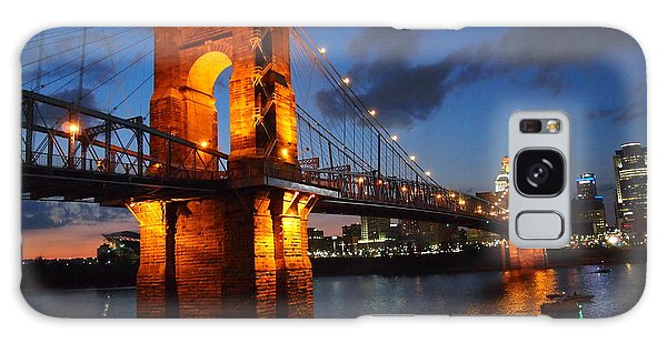 Roebling Suspension Bridge At Sunset Galaxy Case