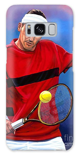 Tennis Galaxy S8 Case - Roger Federer The Swiss Maestro by Paul Meijering