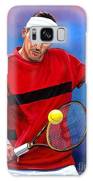 Sportsman Galaxy Case - Roger Federer The Swiss Maestro by Paul Meijering