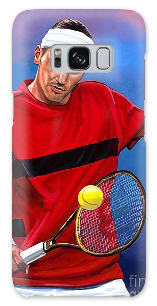 Realistic Galaxy Case - Roger Federer The Swiss Maestro by Paul Meijering