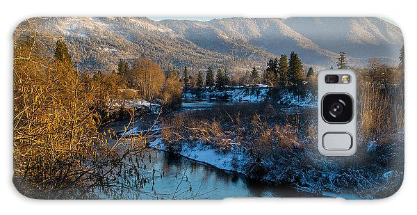 Rogue River Winter Galaxy Case by Mick Anderson
