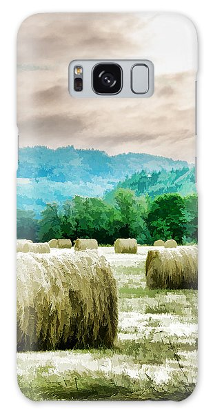 Rolled Bales Galaxy Case by Mick Anderson