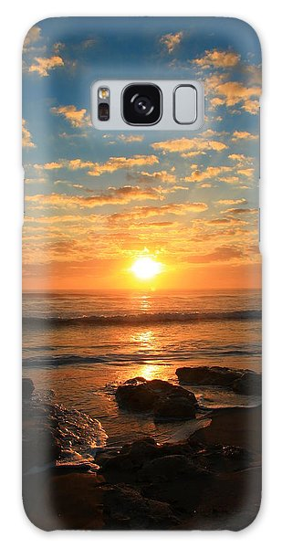 Rolling Over Rocks Galaxy Case by Catie Canetti