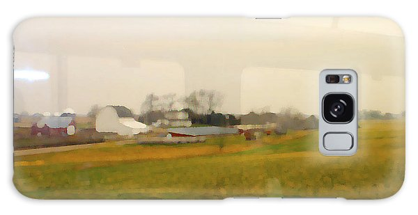 Rolling Past Farmland Galaxy Case