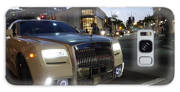 Rolls Royce Parked At The Bottom Of Rodeo Drive Galaxy Case