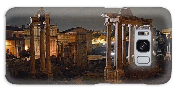 Roman Forum At Night 2 Galaxy Case by Nancy Bradley