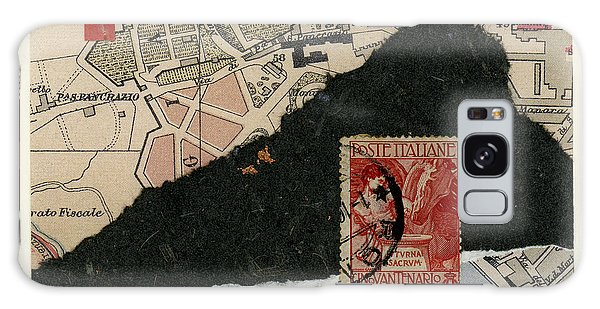 Roman Map Collage Galaxy Case by Carol Leigh