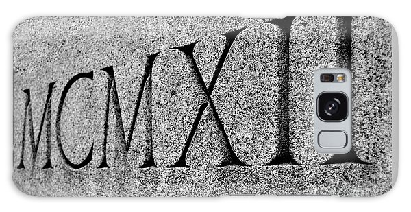 Roman Numerals Carved In Stone Galaxy Case