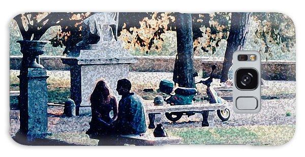 Roman Romance Tivoli Gardens Galaxy Case by Tom Wurl