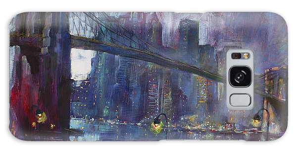 Reflections Galaxy Case - Romance By East River Nyc by Ylli Haruni