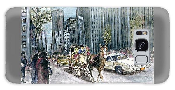 New York 5th Avenue Ride - Fine Art Painting Galaxy Case