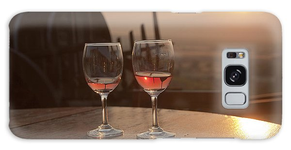 Romantic Sunset With A Glass Of Wine Galaxy Case